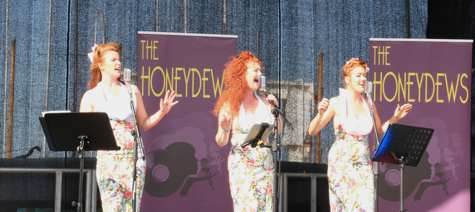 The Honeydews performing at the Dun Laoghaire Regatta.
