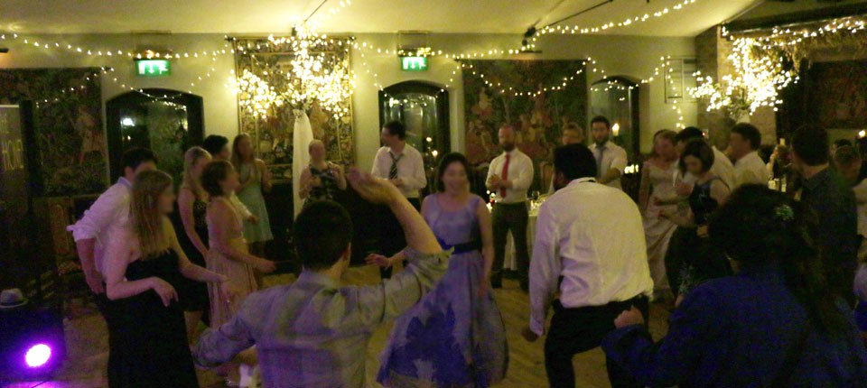 The Honeydews - dancers at Barberstown Castle wedding